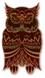 Color Rasta Owl