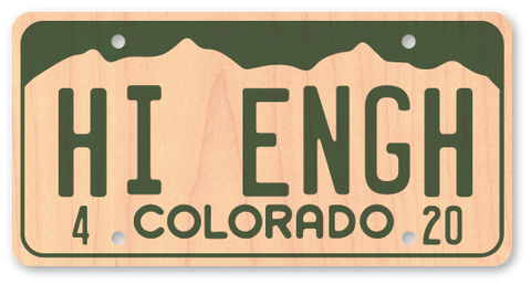 High Enough Colorado License Plate