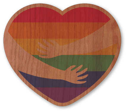 Rainbow Hands Holding Heart