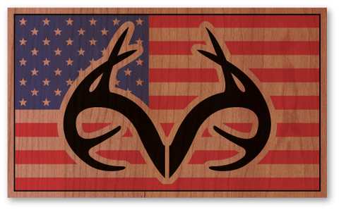 Color Realtree American Flag