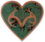 Teal Realtree Camo Heart