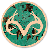 Teal Realtree Camo Circle