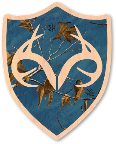 Blue Realtree Camo Shield