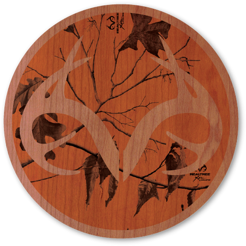 Orange Realtree Camo Circle