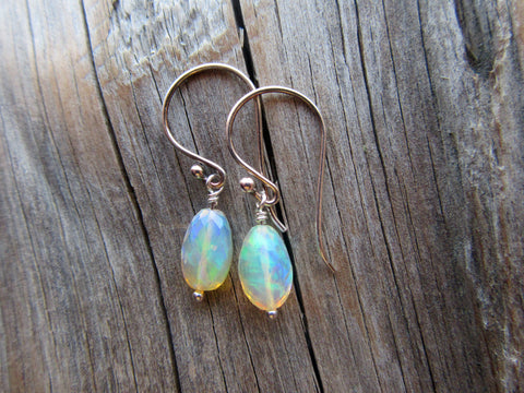 Women's Ethiopian Opal Earrings at Biographie