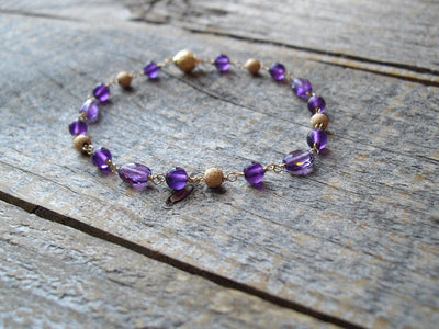 Amethyst Bracelet in 14k Gold