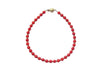 Red Coral Bracelet in 14k Gold