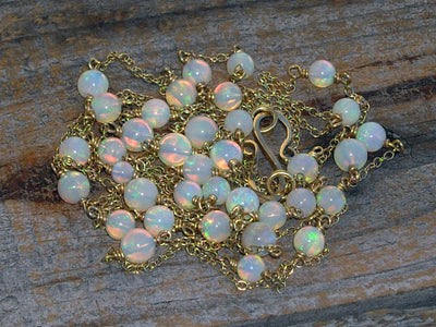 Australian Opal Necklace in 18k Gold