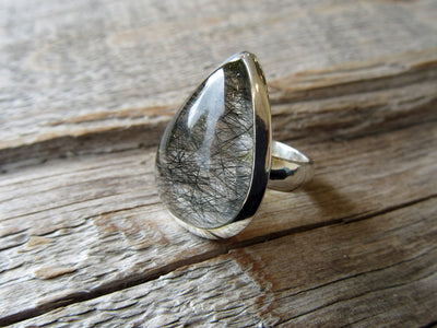 Black Rutilated Quartz Ring