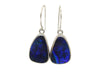 Blue Opal Slice Earrings