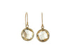 Citrine Coin Earrings