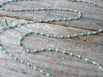 Momo Branch Coral & Turquoise Necklace