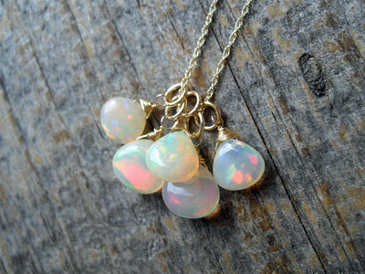 Crystal Opal Cluster Pendant