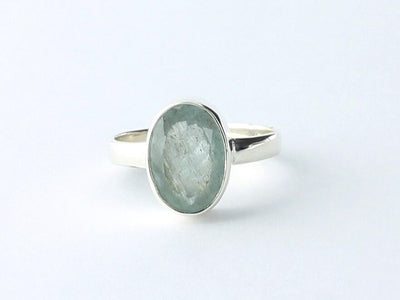 Faceted Aquamarine Ring