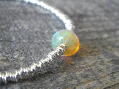 Ripples Bracelet in Honeycomb Opal