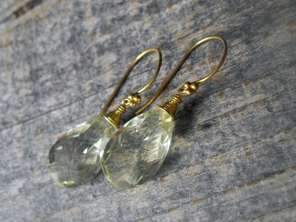 citrine lemon s dangle trillion stock is earrings stunning gold itm jewellers image loading cut old