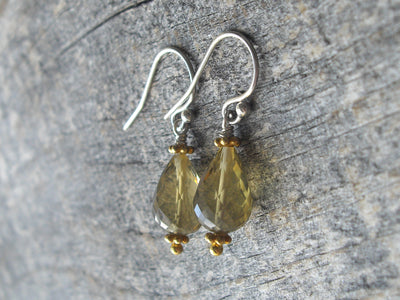 Lemon Quartz Drop Earrings