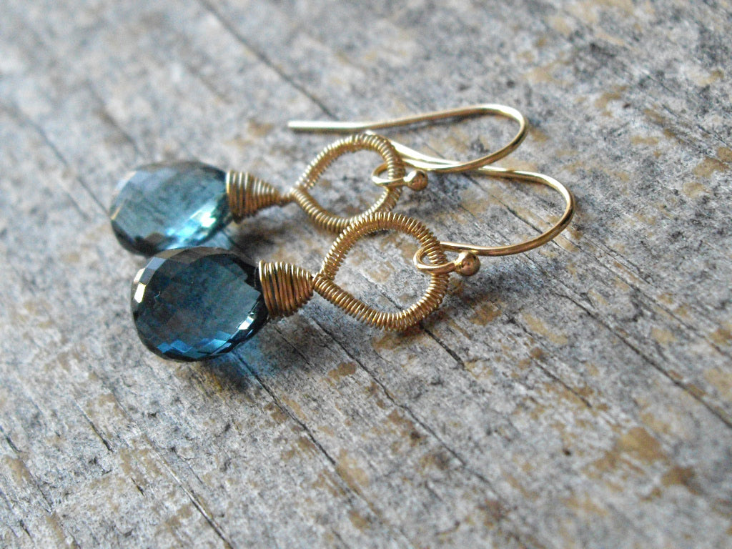 blue earrings created corp topaz silver gems designers one