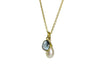 London Blue Topaz & Pearl Pendant