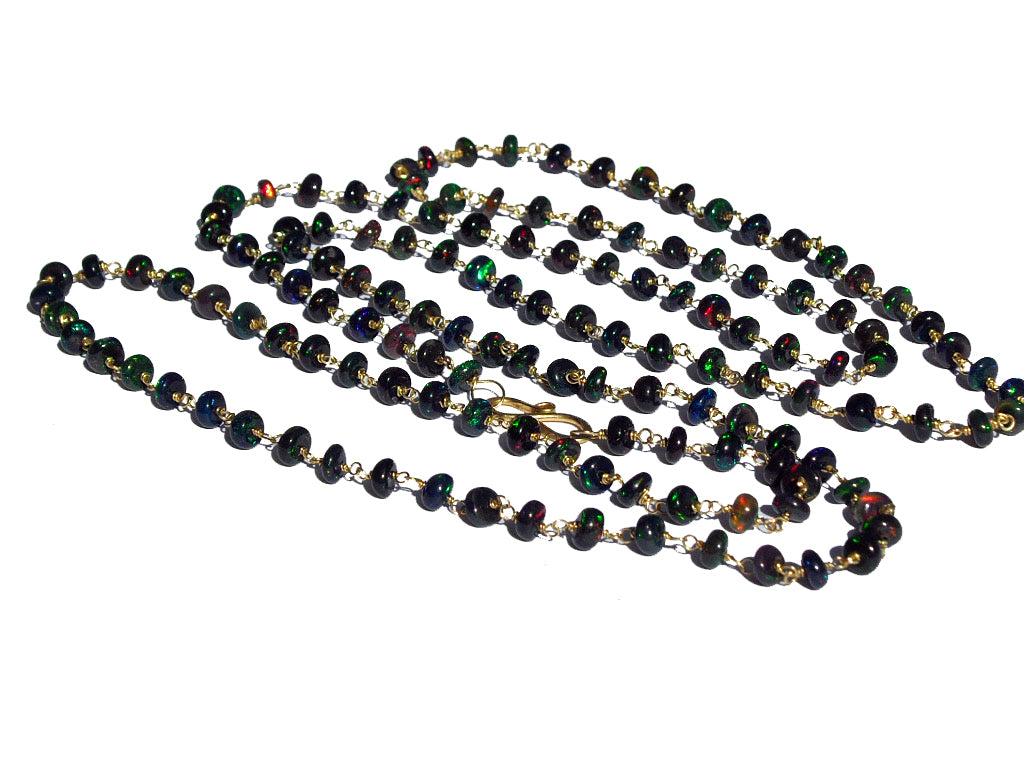 black carats rau s necklace jewelry estate opal m antiques