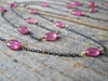 Black & Gold Collection Necklace in Pink Ruby