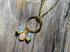 Opal Halo Pendant in Gold Vermeil