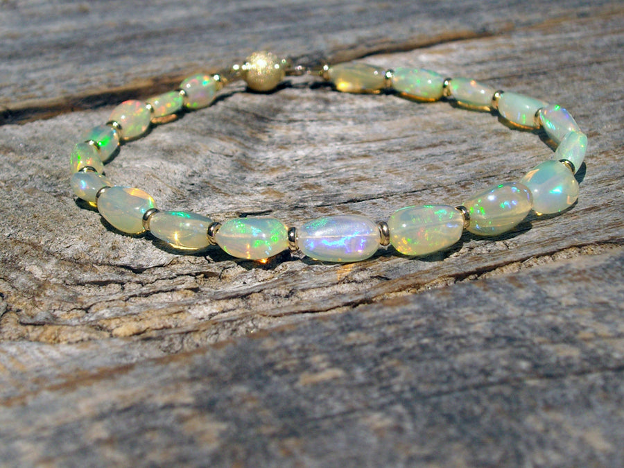 real gold opal bracelet ml csc