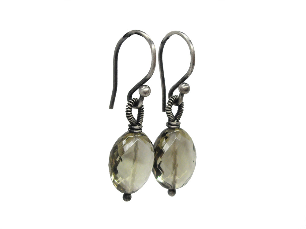 quartz smokey earrings dana