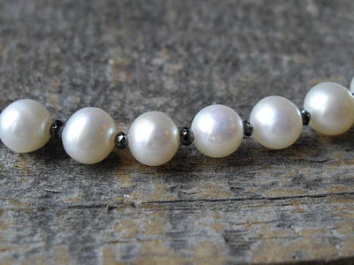 Black Diamond & Pearl Bracelet