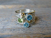 Peridot & Blue Topaz Ring Stack