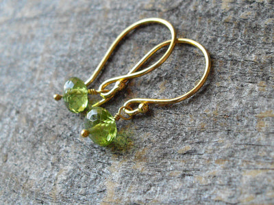 Peridot Earrings in Gold Vermeil