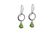 Peridot Hoop Earrings