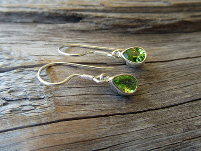 Peridot Teardrop Earrings