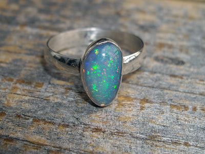Pinfire Opal Ring