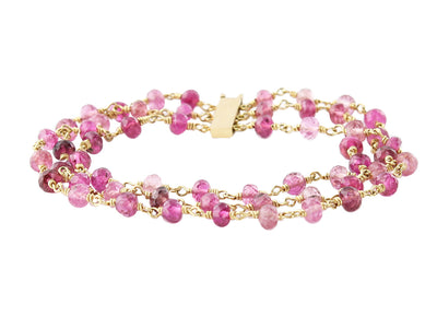 Pink Tourmaline Bracelet in 18k Gold
