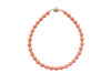 Salmon Coral Bracelet in 14k Gold