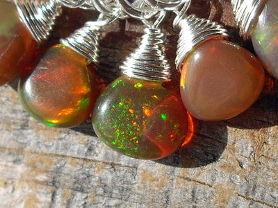 Tan Opal Cluster Necklace