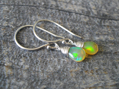 1.86 Carat Fire Opal Earrings