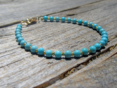 Turquoise Bracelet in Yellow Gold Vermeil