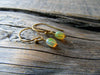 Fire Opal Earrings in Gold Vermeil