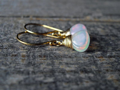 3.14 Carat Opal Earrings
