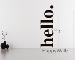 Hello. Wall Decal