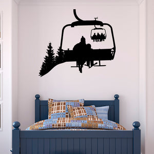 Ski Lift Wall Decal