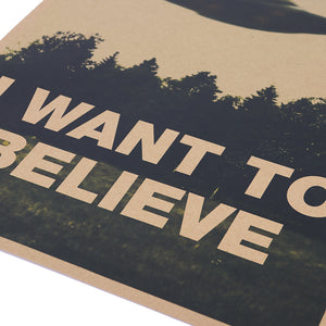 I Want To Believe Wall Canvas