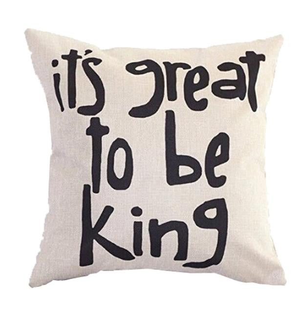 The King Pillow Case Cushion Cover