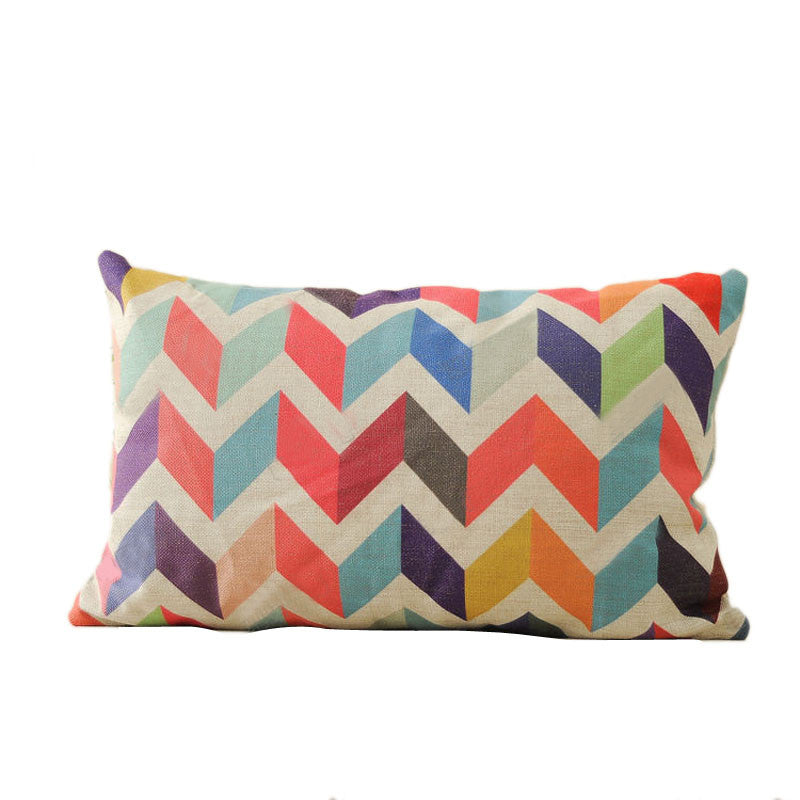 Geometric Pillow Case Cushion Cover