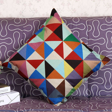 Funky Geometric Pillow Case Cushion Cover