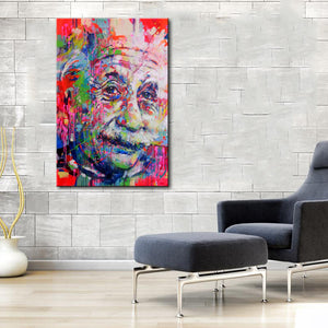 Einstein Street Graffiti Canvas