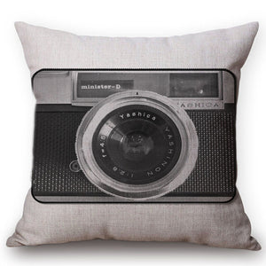Vintage Camera Cushion Cover