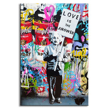 Love Is The Answer Banksy Wall Canvas